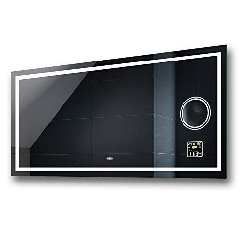 Badspiegel 80x60cm mit LED Beleuchtung - Wählen Sie Zubehör - Individuell Nach Maß - Beleuchtet Wandspiegel Lichtspiegel Badezimmerspiegel - LED Farbe zu Wählen Kaltweiß/Warmweiß L15