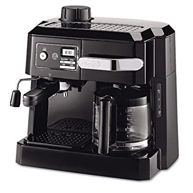 DeLonghi COMBINATION Espresso and Drip Coffee Maker with Patented Flavor Savor Brewing System and Swivel Jet Frother, Black