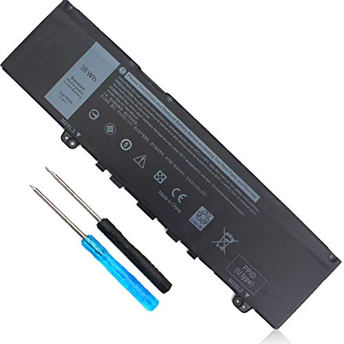 F62G0 Laptop Battery Compatible with Dell Inspiron 13 7370 7373 7380 7386 5370 2-in-1 P83G P87G Vostro 13 5370 D1525S D1505G D1605S D2505G R1605S Series F62GO RPJC3 39DY5 0RPJC3 039DY5 [11.4V 38WH]