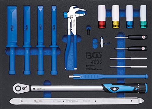 BGS 4035 | Werkstattwageneinlage 3/3: Spezialwerkzeuge für den Reifendienst | 18-tlg.