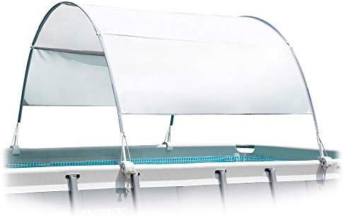 Intex 28054 - Toldo solar piscina, INTEX, para piscinas desmontables, largo 180 cm, con protección UV+50, tejido impermeable, Fácil de instalar, Metal Frame, XRT Frame 1