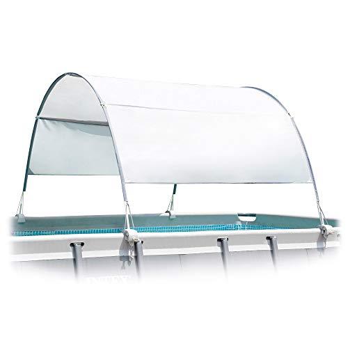 Intex 28054 - Toldo solar piscina, INTEX, para piscinas desmontables, largo 180 cm, con protección UV+50, tejido impermeable, Fácil de instalar, Metal Frame, XRT Frame