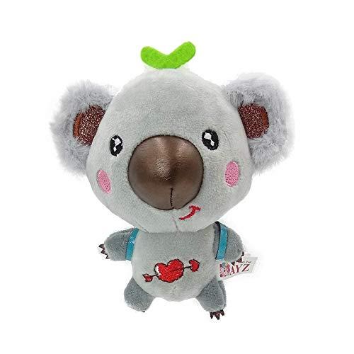 N / A Lindo Mini Koala Colgante de Peluche de Juguete Suave Animal de Dibujos Animados Koala muñeco de Peluche Llavero muñeca Mochila Bolsos de Hombro Colgante Juguete Regalos 13 cm