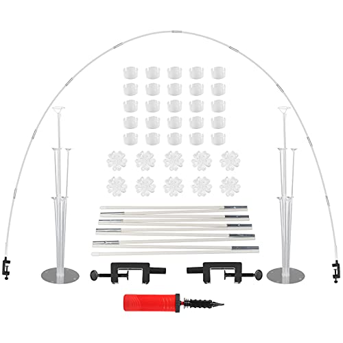 Herefun Weiße Ballonbogen-Kit, 52Pcs Ballon Arch Kit mit Ballon Stick Halter, Ballonbogen Girlande Kit für unterschiedliche Tischgrößen für Party Geburtstag, Weihnachten, Hochzeit & Abschlussfeier