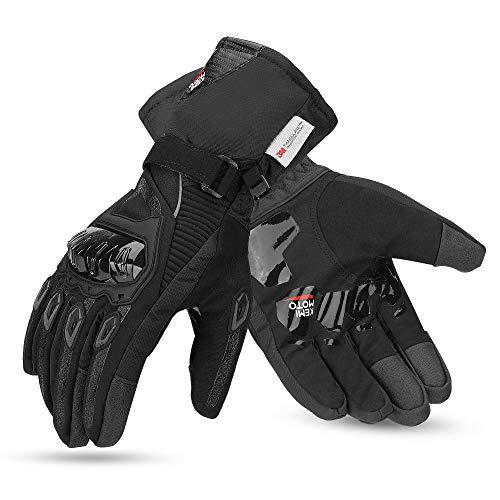kemimoto Motorcycle Winter Gloves,Waterproof Motorcycle Riding Gloves for Men Women Touchscreen Warm...