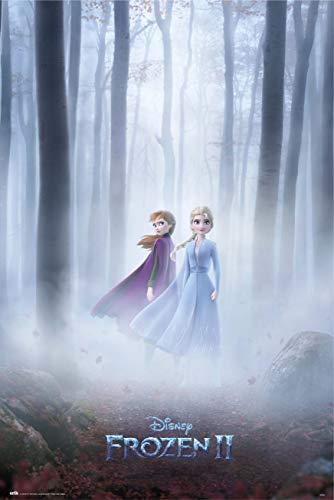 Grupo Erik Reine Des Neiges Póster Frozen 2, Disney (91,5 x 61 cm), Anna Et Elsa, 91 x 61 cm