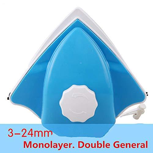 LONG-A Doppelseitige Glasreinigungsbürste Reinigungswerkzeug Für Doppelt Verglaste Hochhausfenster Pinsel einstellbar für 3-24 MM Glas