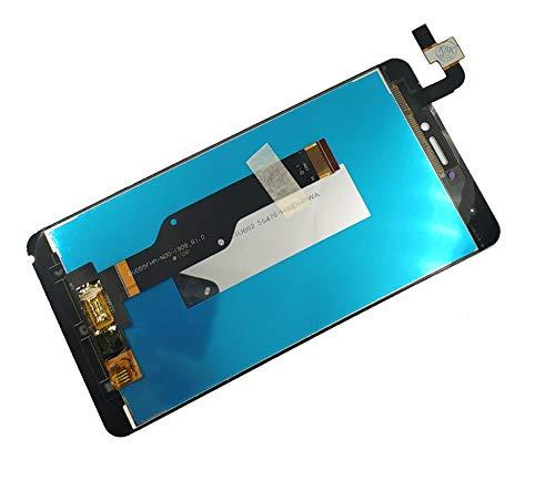 Pantallas LCD para teléfonos móviles Pantalla LCD Toque con ensamblaje de Marco LCD Pantalla táctil/Ajuste para Xiaomi Redmi Note 4 Piezas de reparación Global (Color : White no Frame)