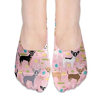 Chihuahua Perros Pastel Unicornio Perros Y Unicornios Diseño - Calcetines de algodón de corte bajo antideslizante Grips Casual para hombres y mujeres