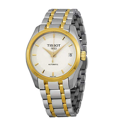 Tissot Couturier Automatic White Dial Two-tone Ladies Watch T0352072201100