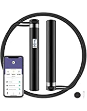 Smart Jump Rope Bluetooth Skipping Rope APP Data Analysis USB Rechargeable HD LED Display for Fitness Cross fit Gym Burn Calorie Adjustable Jumping Rope for Men Women Kids Girls Indoor Outdoor