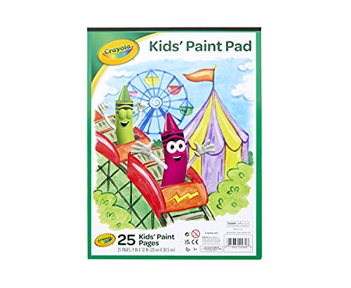 Crayola Painting Paper Pad, Painting Supplies for Kids, 25 Sheets White