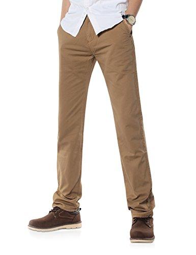Demon&Hunter 900X Clásico-Fit Seires Hombre Chinos Pantalones DH9004(28)