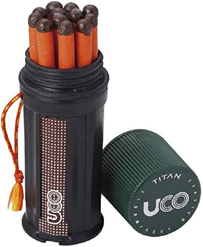 UCO Titan Stormproof Match Kit with Waterproof Case, Replacement Strikers and 12 Matches (Kit, 2-Pack)