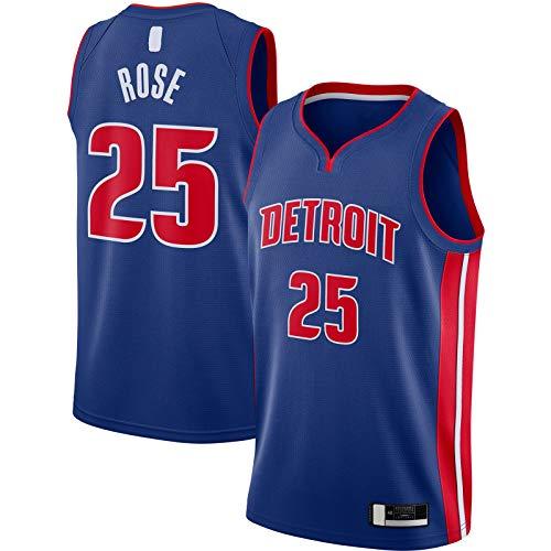 OYFFL Derrick Camiseta De Baloncesto Rosa De Manga Corta Detroit Sudadera Pistones Sportswear #25 2020/21 Swingman Jersey Azul - Icono Edition-XL