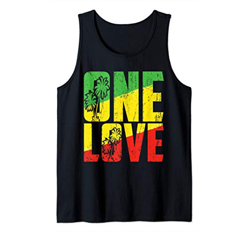 One Love Jamaica Vacation Jamaican Reggae Music Caribbean Tank Top