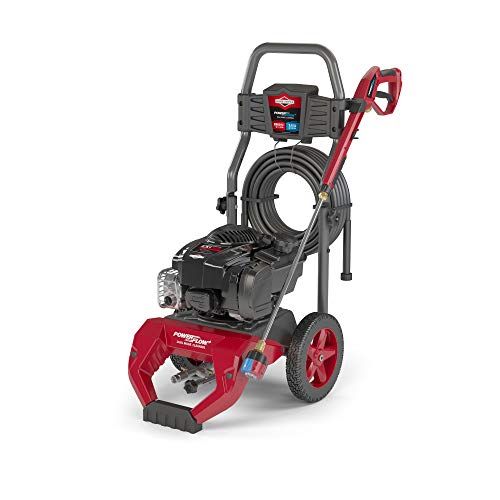 Briggs & Stratton 020770 2800 MAX PSI at 1.8 GPM Gas Pressure Washer with 30-Foot Hose, 7-IN-1 Nozzle, and PowerFlow + Technology , Black
