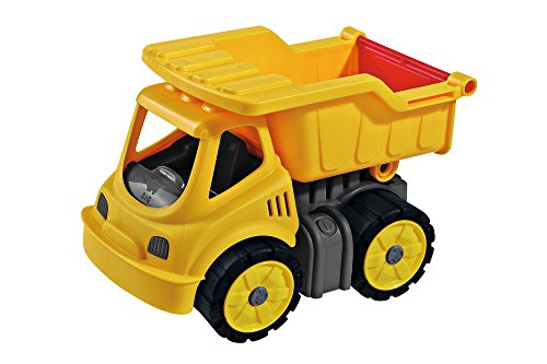 BIG, Power Worker Mini Kipper, Kippfahrzeug geeignet als Sandspielzeug und für das Kinderzimmer, Reifen aus Softmaterial, perfekt für unterwegs, für Kinder ab 2 Jahren