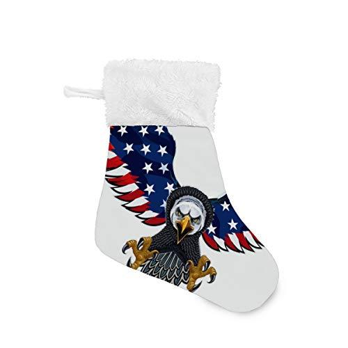 LKZNT 4 Packs - Christmas Stockings 7.87' Whitehead Eagle Wings Fireplace...
