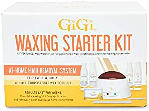 GiGi Hair Removal Waxing Starter Kit for Face and Body