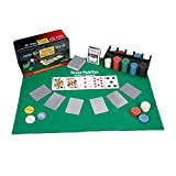 Relaxdays Set da Poker Completo, 200 Fiches, Tappetino, 54 Carte, Dealer, Bottoni Bui, con...