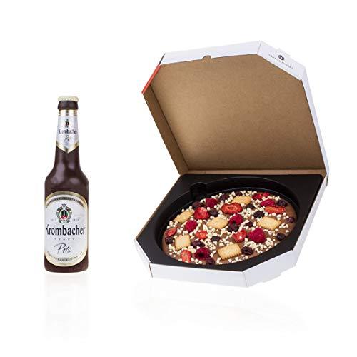 Feierabend-Set - Set aus Schokobier und Schokopizza | Pizza | Bierflasche aus Schokolade | Geschenkidee Männer | lustige Geschenk | Vatertag | Papa | Bastler | Vatertagsgeschenk | alkoholfrei