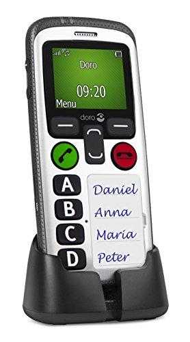 Doro Secure 580IUP GSM Mobiltelefon (Sicherheitstimer, Positions- & Aktivitätsüberwachung) schwarz-weiß