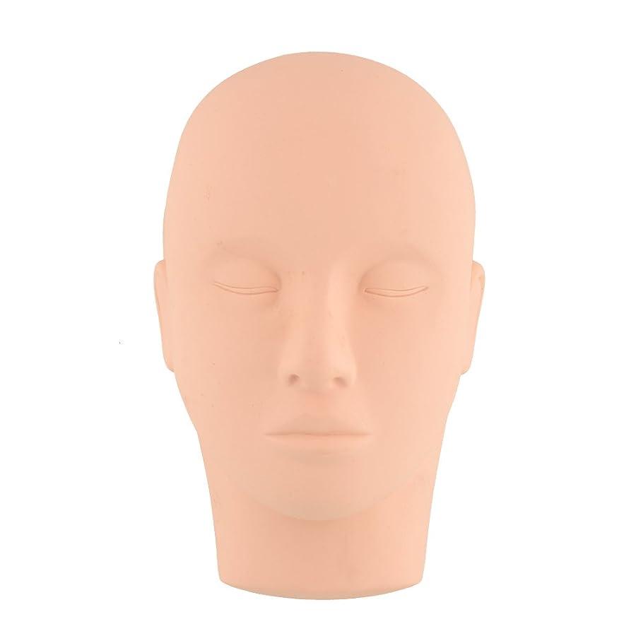 織機チーズ埋め込むKicode ビューティートレーニング マネキンは練習をメイクアップ フラットヘッド瞳の偽まつげ マネキンマネキンヘッド