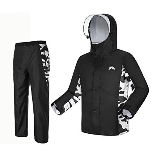 RUIX Regenjas Regenbroek Pak Mode Rijden Volwassen Buiten Wandelen Regenjas, XXL