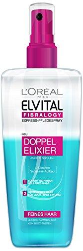L'Oréal Paris Elvital Fibralogy Express Pflegespray, Doppel Elixier, 200 ml