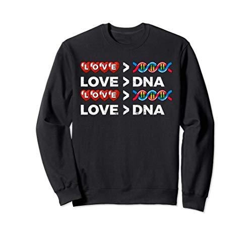 El amor es ms grande que la adopcin de ADN Regalos Sudadera