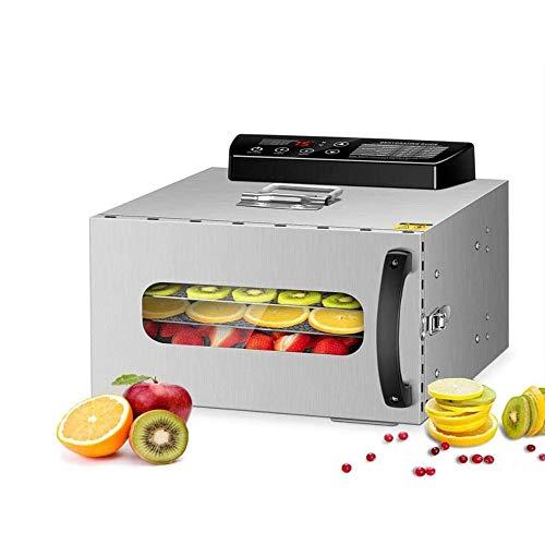LKNJLL 6 bandejas deshidratador de alimentos, Comercial acero inoxidable deshidratador de alimentos crudos y carne seca de la fruta, 400W de conservar los alimentos Nutrición Profesional domésticos ve