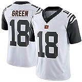 Rugby Jersey Football Jersey- # 18 A.J Green Cincinnati Bengals Sportswear Fans Sweatshirt Casual T-Shirt Manches Courtes Football Short Sleeve-A-XXL(193++CM)