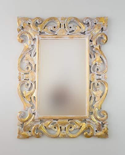 Rococo Espejo Decorativo de Madera Tanduk de 60x80cm en...