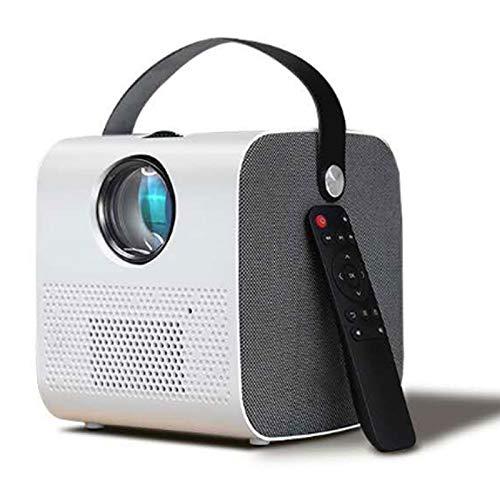 0℃ Outdoor Proyector Pequeño Fundido Pared Hogar Teléfono Móvil HD Dormitorio Oficina con 1080p, Pantalla Grande de 120 Pulgadas y Brillo de 10800l, Corrección Trapezoidal Digital