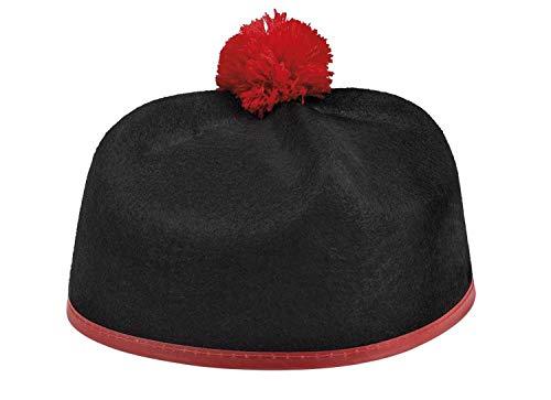 Boland 04280 Hoed Kardinal, zwart/rood