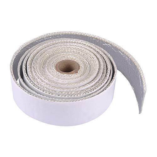 AutoEC Heat Shield Tape, Self-Adhesive Heat Reflective Tape Roll, Adhesive Backed Heat Barrier for Car, Truck, Motorcycle (1.5