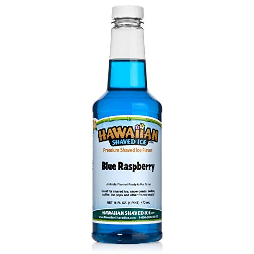 Hawaiian Shaved Ice Syrup, Blue Raspberry, Pint