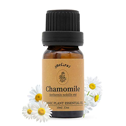 Yethious Chamomile Oil Essential Oils Organic 100% Pure Essential Oil Therapeutic Grade for Diffuser Humidifier Aromatherapy Gift Oils -10ml 0.33 oz
