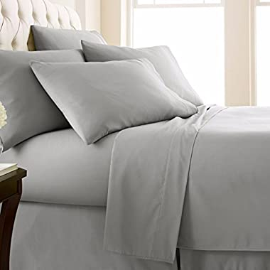 Rajlinen RV Mattress SHORT QUEEN SHEET SET - (60x75) Solid Light Grey 400 Thread Count Egyptian Cotton -Made Specifically for RV, Camper & Motorhomes