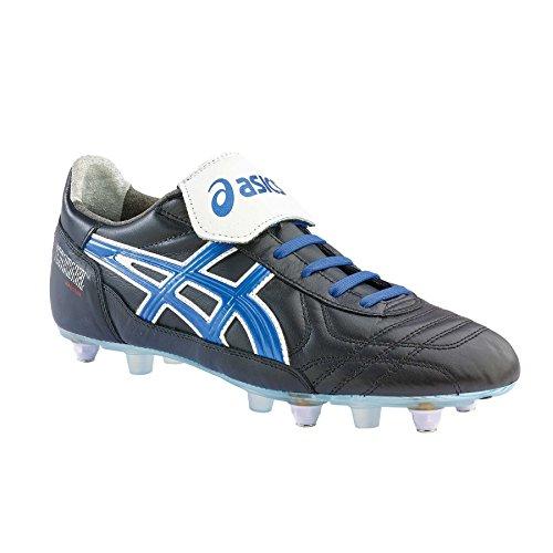 Asics - Botas de fútbol para Hombre Black/Electric Blue
