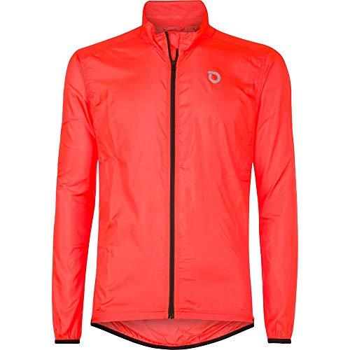 Briko Fresh Packable Jacket Giacca Antivento Ciclismo, Uomo, Orange, M