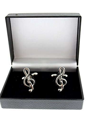 Zac's Alter Ego® Treble Clef Musical Note Novelty Cufflinks in Gift Box