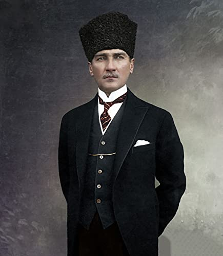Turkije Mustafa Kemal Ataturk Turkse Decoratieve Kraft Poster Klassieke Canvas Schilderij Muur Posters Stickers Home…