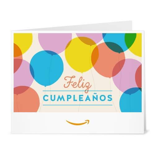 Cheque Regalo de Amazon.es - Imprimir - Globos de cumpleaños