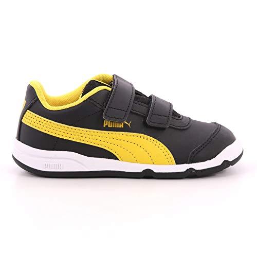 Puma Stepfleex 2 SL VE Inf Kinder Baby Schuhe Sneaker 192523 Schwarz Gelb, Größe:EUR 20 / UK 4/13 cm (20 EU)