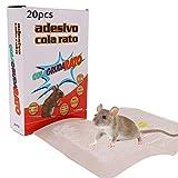 ZOORE, Trampa Adsiva para Ratoncillos, Profesional Trampa Ratónes, fácil de Usar ratón Adsivas para pequeño roedores y Rata, 1 unidad con 20 piezas