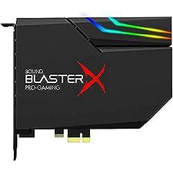 Creative Sound BlasterX AE-5 Plus Scheda audio di classe ultra SABRE32 e DAC PCI-e risoluzione da 32bit/384kHz, Dolby Digital e DTS, SNR fino a 122dB, sistema di illuminazione RGB