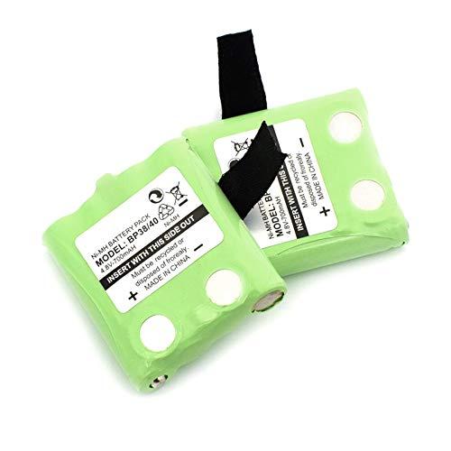 THENAGD 4.8v 700mah Pacchetto Batterie Ricaricabili Ni-MH, per Enciclopedia Bp-38 Bp-40 Bt-537 Enciclopedia Motorola Gmr-1558/2ck T8 Citofono 2pcs