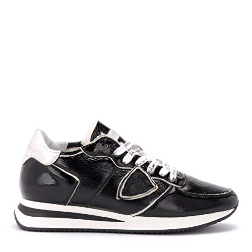 Philippe Model Sneaker Tropez X In Lack Schwarz Mit Schaffell